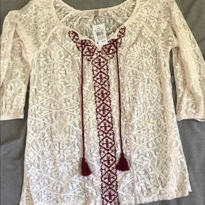 NWT!!! Vanity Lace Blouse